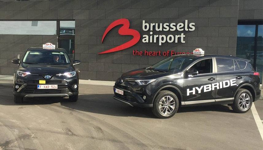 Taxi Zaventem airport and hybrid taxi in Brussels