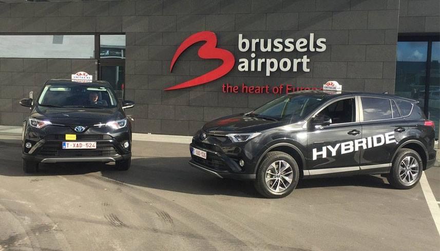 Taxi Zaventem luchthaven en hybride taxi in Brussel